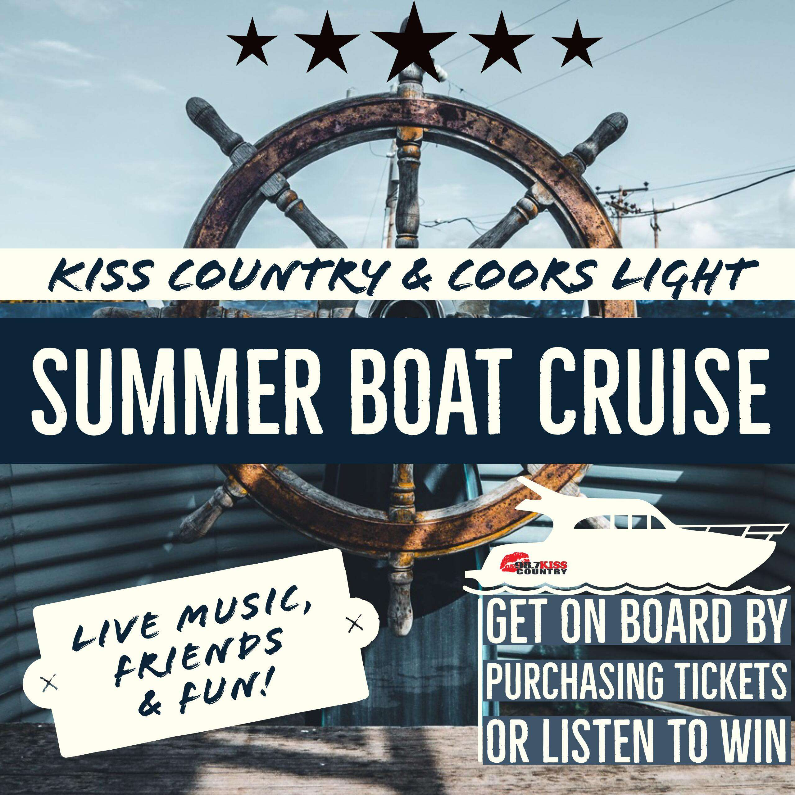 KISS Country and Coors Light Summer Boat Cruise – 98 7 KISS Country